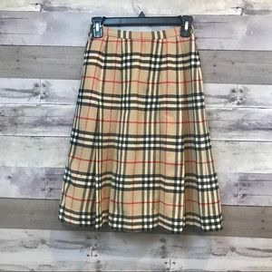 Burberry's Vintage Plaid Pleated Dress Size Small